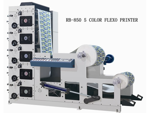 RB-850 4-6 Color Flexo Paper Cup Printing Machine